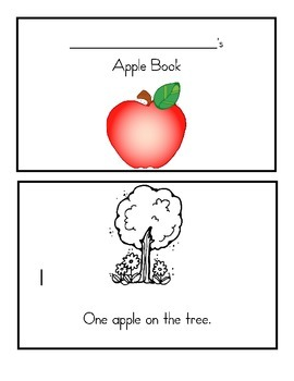 Apple Tree Emergent Reader, book, counting, activity