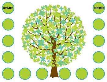 Apple Tree Fall Phonics Game Activity Long e as -ee -ea