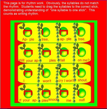 Apple Tree - Fall - ta, titi - so-la-mi-do - Prep / Present-SMARTboard