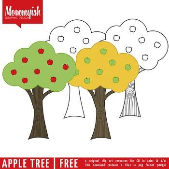 Apple Tree Freebie | Clipart