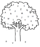 Apple Tree Letter Matching