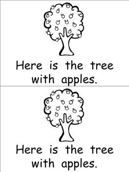 Apple Tree Life Cycle Emergent Reader for Kindergarten