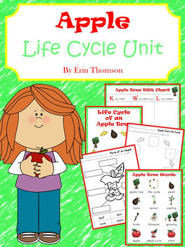 Apple Tree Life Cycle Unit  ~ Literacy and Science Activities