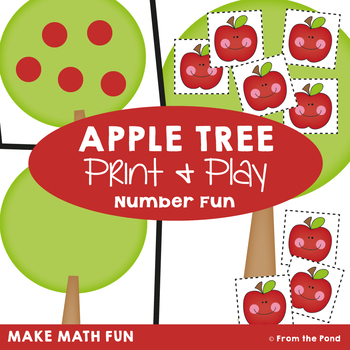 Apple Tree - Math Center Game for Numeral Identification