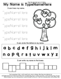 Apple Tree - Name Practice Editable Sheet - #60CentFinds  *s