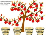 Apple Tree Note Sorting SMART Board activity