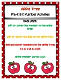 Apple Tree Number Activities for PreK and K