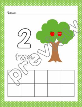 Apple Tree Number Mats: 0-10