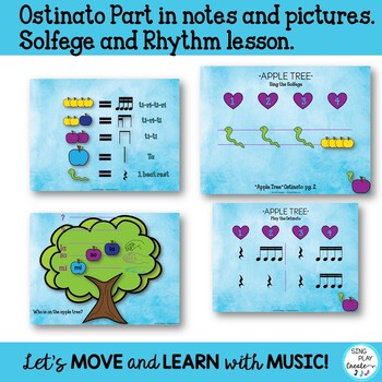 "Back to School Name Game Song ""Apple Tree"" with Orff and Kodaly Lessons K-3"