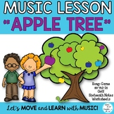 "Music Lesson: ""Apple Tree"" Upper Elementary Song, Game, Worksheets, Mp3"