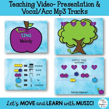 """Music Lesson: """"Apple Tree"""" Upper Elementary Song, Game, Worksheets, Mp3"""