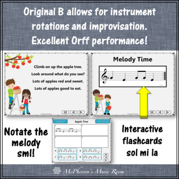 Elementary Music Lesson ~ Apple Tree: Orff, Rhythm, Melody & Movement