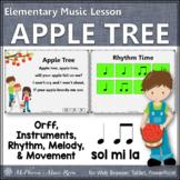 Elementary Music Lesson Orff Arrangement ~ Apple Tree {Eighth Quarter}