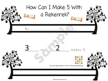 Apple Tree Rekenrek Booklet-How Can I Make 5?
