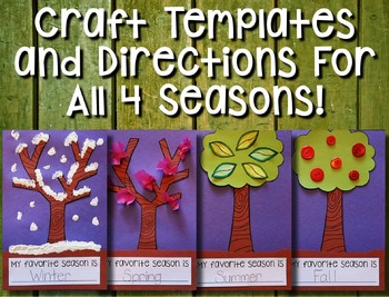Apple Tree Seasons --- Seasons of an Apple Tree Flip Book and Craftivity