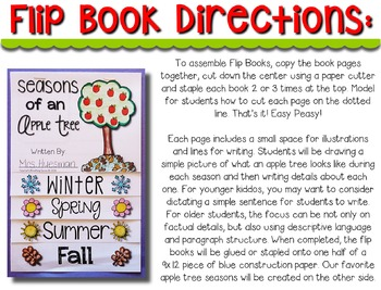 Apple Tree Seasons --- Seasons of an Apple Tree Flip Book and Craftivity