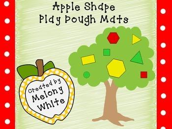 Apple Tree Shape Play Dough Mats--FREEBIE