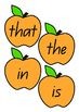 Apple Tree Sight Words - First 100 Words - Printable