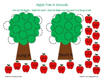 Apple Tree Sorting: Long and Short A Sounds