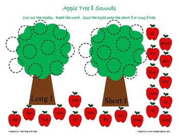 Apple Tree Sorting: Long and Short I Sounds