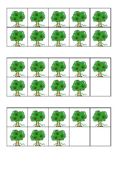 Apple Tree Ten Frames Games