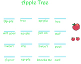 Apple Tree (one sound vs two sounds)