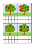 Apple Trees Counting Ten Frame Activity Sheet