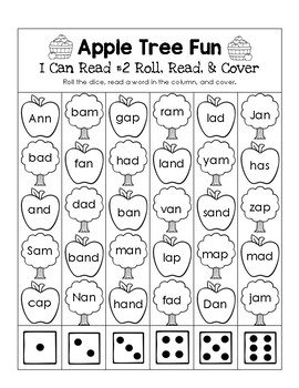 Apple Trees - I Can Read It! Roll, Read, and Cover (Lesson 2)