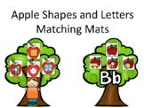 Apple Trees Shape and Alphabet Matching Mats