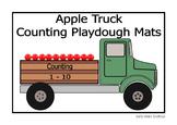Apple Truck Counting 1-10 Playdough Mats