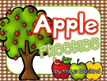 Apple Unit FREEBIES {Interactive and Engaging Activities} {CCSS}