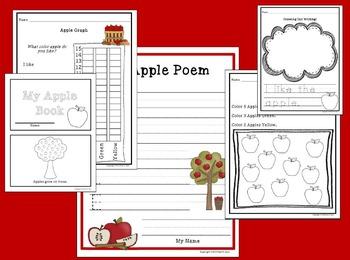 Apple Unit - Kindergarten Literacy, Math, Science, Social Studies Activities