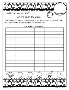 Apple Unit - Literacy, Science & Math