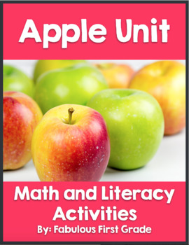Apple Unit- Math and Literacy Activities
