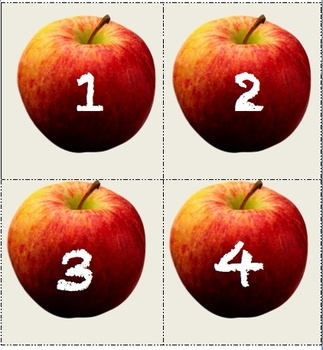 Apple Unit Number Flashcards 1-12