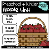 Apple Unit - Preschool Unit complete with lesson plans, centers, worksheets