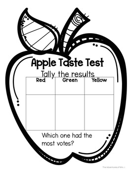 Apple Unit Differentiated Student Journal