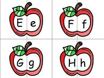 Apple Upper/Lowercase match game