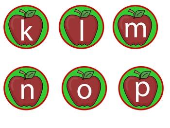 Apple Upper snd Lower Case Letter Match