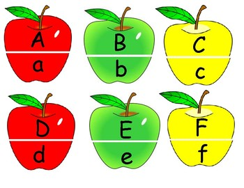 Apple Uppercase and Lowercase Letter Match