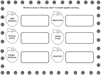 Apple Variety Puzzle Fact Cards- Freebie!
