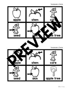 Apple Vocabulary Match and Write