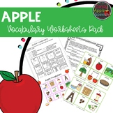 Apple Vocabulary Worksheets pack