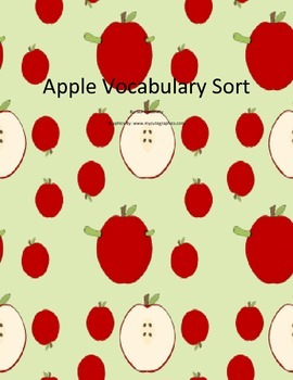 Apple Vocabulary Sort