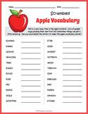 Apple Vocabulary Word Scramble
