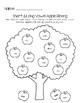 Apple Vowel Sorting Activity