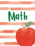 Apple Watercolor Binder Covers