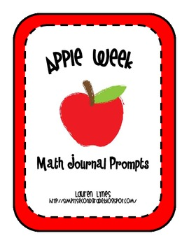 Apple Week Math Journal Prompts