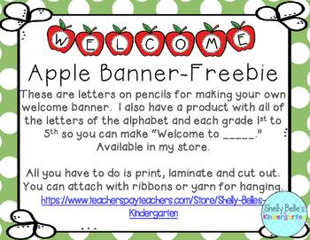 "Apple ""Welcome"" Banner Freebie"
