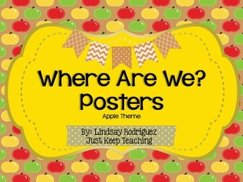 {Apple} Where Are We Poster- Organized, Printable, Apple